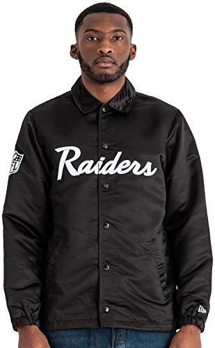 New Era - NFL Oakland Raiders Satin Coaches Jacke - Schwarz Größe XL, Farbe Schwarz