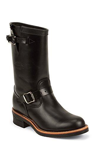 Chippewa 1901M48 boots bottines en cuir pour homme noir black whirlwind upper v-bar liège avec semelle vibram Noir - Noir