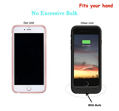 Iphone7Battery Case, CORST® Slim 2800mAh batteria di backup caso batteria esterna Power Bank per Iphone7 Blau Blau