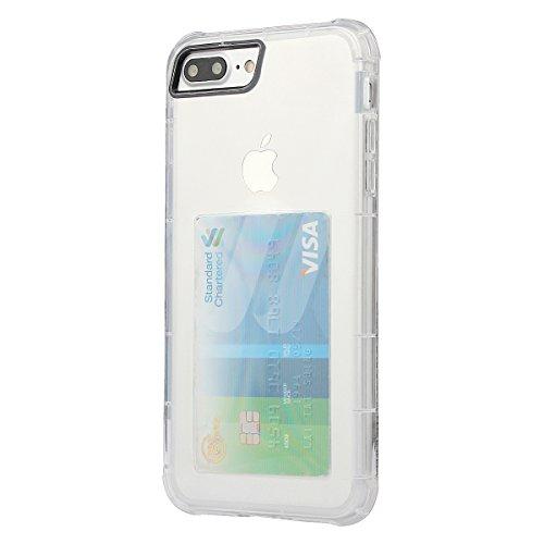 xhorizon [Coussin d'air] Pare-chocs d'absorption des chocs et anti-rayures Clear Back ultra mince couverture protectrice transparente avec Slot de carte cachée pour iPhone 7 Plus / iPhone 8 Plus #1