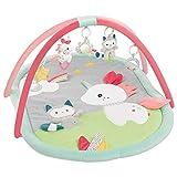 Fehn 057010 3-D-Activity-Decke Aiko & Yuki - Spielspaß zum Fühlen & Greifen für Babys und Kleinkinder ab 0+ Monaten - Maße: 85 x 110 cm