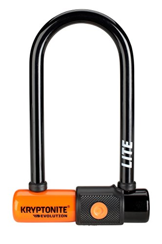 Kryptonite Evolution Lite Mini-6 (7x15, 2cm) Fahrradschloss, Orange, 7 x 15,2 cm