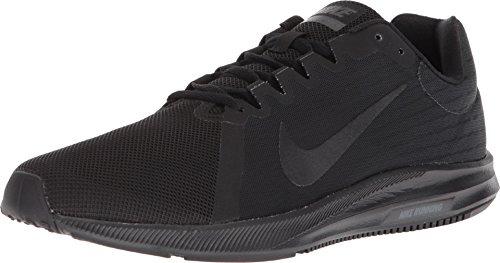 NIKE Mens Downshifter 8 (4E) Black Black Anthracite Size 8 (Nike Golf Schuhe Männer)