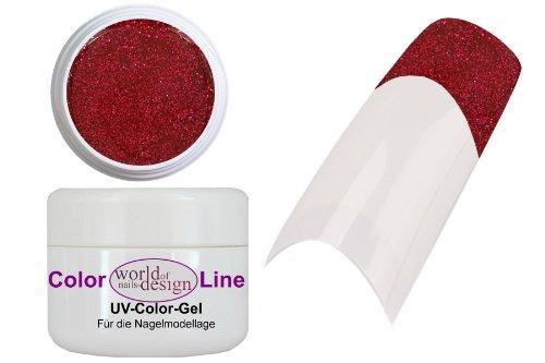 World of Nails-Design HQ Glitter-Gel Cherry-Red 5 ml