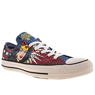 Converse all star ox iii wonder woman 5 uk blue for Converse all star amazon