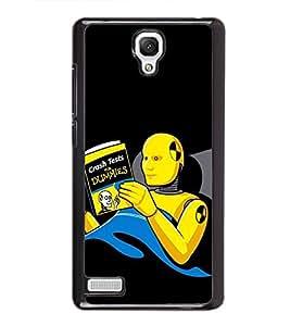 Fuson Designer Back Case Cover for Xiaomi Redmi Note :: Xiaomi Redmi Note 4G :: Xiaomi Redmi Note Prime (Robot Robotic Book Hobbie Sleeping Robot)