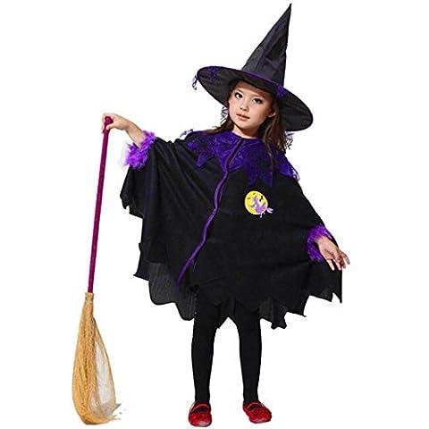 Mädchen Halloween Kleid, SHOBDW Kleinkind scherzt Baby Mädchen Halloween Kleider Kostüm Kleid Party Umhang + Hut Outfit (2-3T, (Bestes Halloween-kostüme Für Kleinkinder)