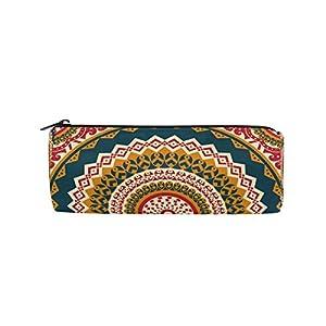 Alarge – Estuche con cremallera para lápices, diseño de mandala tribal étnico