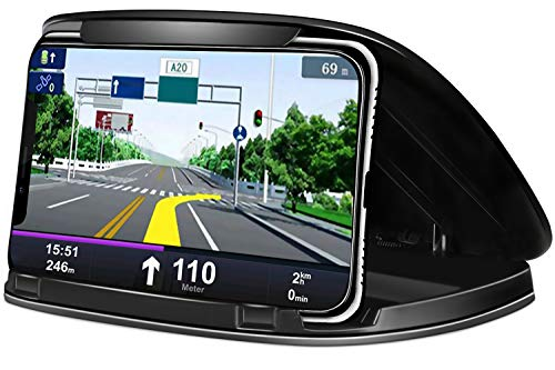 Handyhalter fürs Auto,Handyhalterung Auto Smartphone Armaturenbrett Autohalterung mit Rutschfest für Alle 3-6.8 Zoll Geräte kompatibel für iPhone Xs Max,X,8,7,Samsung S10 S9,Huawei andere, Schwarz