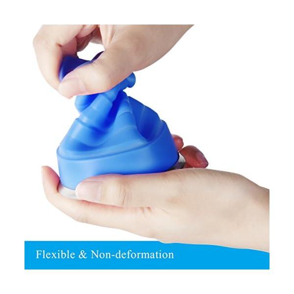 WEINAS 2 pcs Vaso de Agua de Silicona Plegable Portátil Retráctil 200ML Botella de Agua Reutilizable Taza Vaso de Viaje… 6