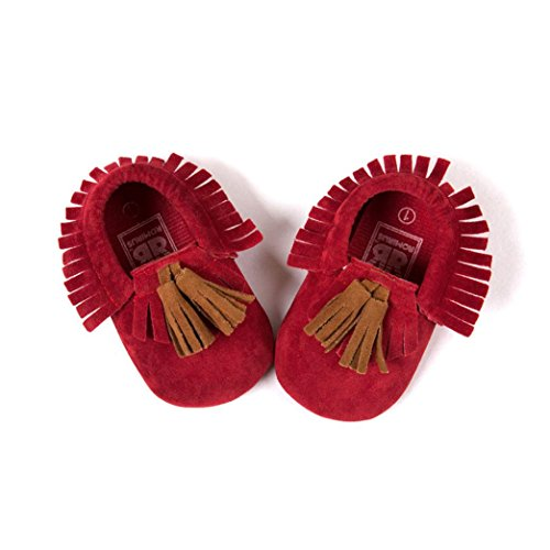 Jamicy® Vermelho Macio Garoto Prewalker 6 Menina Borla Babyschuhe Infantil ~ Infantil 12 Cinza Único Meses anqwdI6