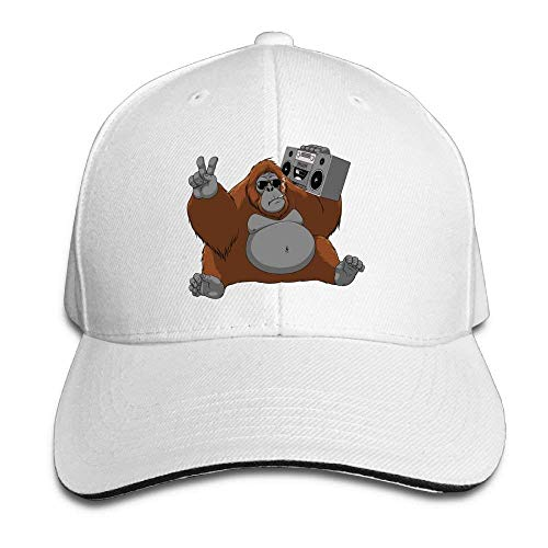 Preisvergleich Produktbild NDJHEH Hüte, Kappen Mützen Sandwich Baseball Caps Unisex Adjustable Hats Orangutan Holding Sound Box