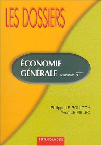 Eonomie générale Tle STT