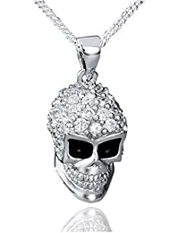 Skull Sterling Silber 925 Drehring Totenkopf Herren Damen Armband Anhänger Ring