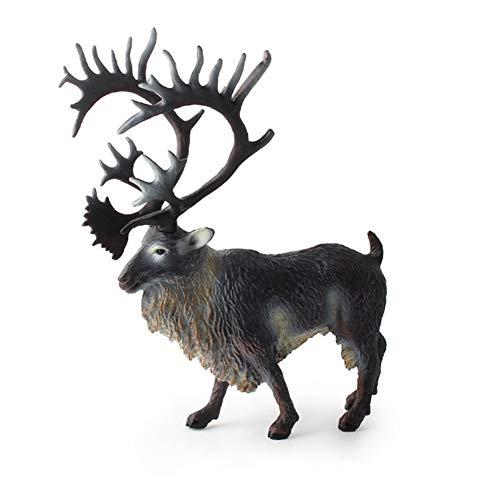 DHYBDZ Kinderspielzeug Simulation Horn Ziege Rentier Statische Modell Ornamente Spielzeug für Jungen Mädchen Weihnachten Geburtstag, Reindeer (Ziege Spielzeug Hund)