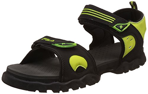 Fila Men's Salomon Black/Lime Sandals and Floaters - 9 UK/India (43 EU)  available at amazon for Rs.519