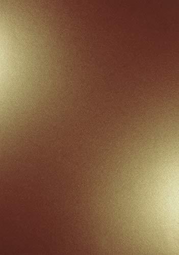 Altgold 250g Papier DIN A4 210x297mm Majestic Casino Gold- Ideal für Hochzeit, Geburtstag, Taufe,Weihnachten, Einladungen, Diplome, Geschenktüten, Visitenkarten, Gelegenheitskarten ()