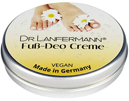 Dr. Lanfermann Fuß Deo Creme vegan 30g - Deodorant Creme ohne Aluminium gegen Fußgeruch und stinkende Füße -