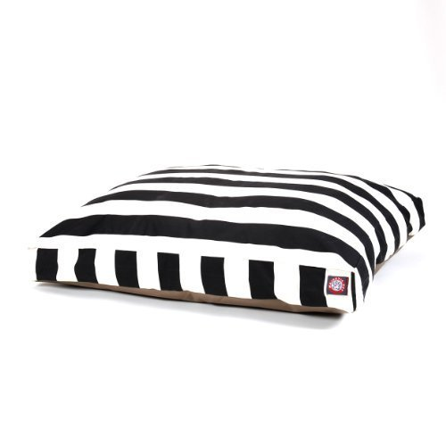 Majestic Pet Black verticale Stripe rettangolo Pet Bed, Medium by Majestic Pet Products, Inc.