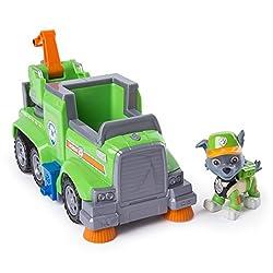 Paw Patrol 6053378 - Ultimate Rescue Basis Fahrzeug mit Figur - Rocky