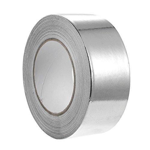 50m x 50mm breit Aluminiumband Aluminium Klebeband Aluminiumklebebänder selbstklebend, 1 Rolle in silber
