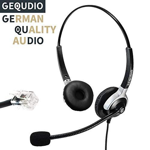 Business-Headset geeignet für Yealink (alle Modelle)®, Snom (alle Modelle)® und Grandstream ® Telefone - IP Phone mit RJ-Anschluss | 80g leicht 720 Headset
