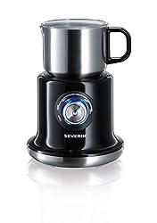SEVERIN SM 9688 Milchaufschäumer (Erwärmen (Bis zu 700 ml) Aufschäumen (Bis zu 350 ml) Induktion) edelstahl/schwarz