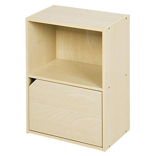 TLMYDD Einfache Zweitüriges Bücherregal Schließfächer Spind Holzfarbe Bücherregal (Size : A)