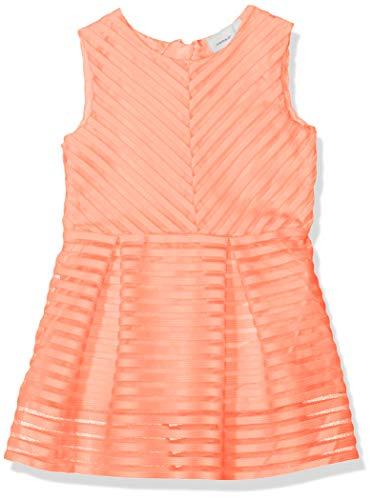Fusion Ärmellos (NAME IT Baby-Mädchen NMFHOLLYHOCK SL DRESS Kleid, Orange (Fusion Coral), (Herstellergröße: 92))
