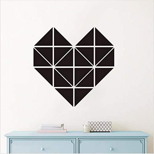 Meaosyy Autoadesivo della parete di DIY del cuore geometrico per il Wall Art Decorativo Minimalismo di stile nordico Creativo romantico Poster Home Decor 56 * 56cm