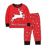 i-uend Baby 2019 New Pyjamas - Kleinkind Kinder Baby Jungen Mädchen Cartoon Weihnachten Pyjamas Tops Hosen Outfits Set für 1-7 Jahre