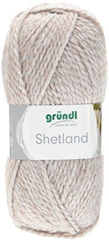Gründl Shetland, Vorteilspackung 10 Knäuel à 100 g Handstrickgarn, 80% Polyacryl, 20% Wolle, Mocca Melange, 55 x 40 x 10 cm (Strickjacke Wolle Shetland)