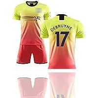 Para Silva 21 De Bruyne 17 Agüero 10, Uniforme de fútbol masculino, la segunda ropa deportiva de fútbol de la temporada 19-20, para el uniforme de entrenamiento,que se puede lavar repetidamente