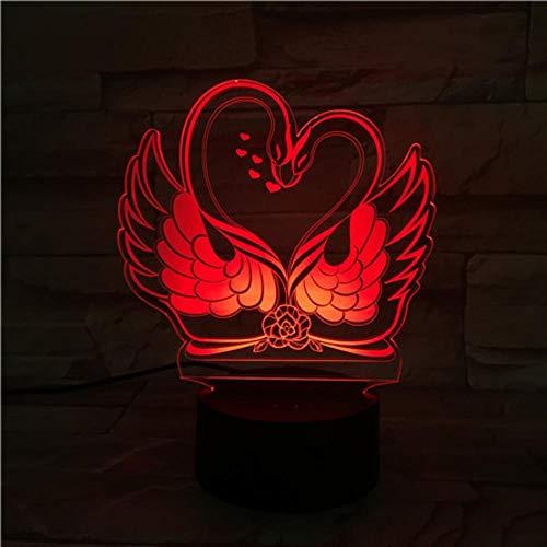 Bunte Paare Schwan lieben Styling LED Yak leicht berühren bunte kreative Valentinstag Geschenk -