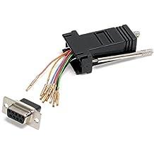StarTech.com Adaptador Conversor Modular DB9 Serie a RJ45 Hembra a Hembra - Adaptador para cable (DB9, RJ-45, Negro, DB9 Female, RJ45 Female, Hembra/hembra)