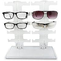 Sunshey porta occhiali, in acrilico trasparente, con supporto per bicchieri