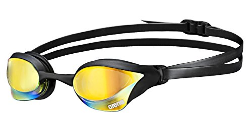 Arena Cobra Core Mirror Occhialini da Triathlon, Unisex, Nero (Yellow Copper-Black), Taglia Unica