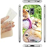 FUNDA CARCASA SLIM TIGRE KAWAII CUTE PARA SAMSUNG GALAXY S5 MINI G870 TPU