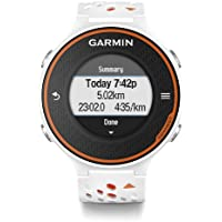 Garmin Forerunner 620 GPS Running Watch with Colour Touchscreen Display and Heart Rate Monitor - White/Orange