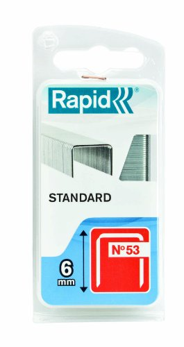 Rapid 40109560 Lot de 1080 agrafes n°53 53/6mm