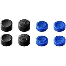 GameSir Gommini Joystick PS4 Gommino Joypad PS4 Gommini Analogici PS4 Joystick Playstation 4 Gommini Poggiapollici per Controller PS4/ Slim/PRO–Set Blu e Nero (4 Paia totali)