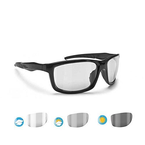BERTONI Photochromatischen Windschutz Sportbrillen Sonnenbrillen Radfahren - Skifahren - Laufen - Golf - Alien F01 Italy Automatische Scheibentönung Fahrradbrillen