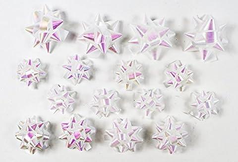 16Stück Weihnachten irisierend Bögen Presents Geschenkpapier Dekorationen Weihnachts sortiert
