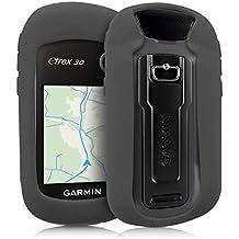 kwmobile Funda para Garmin eTrex 10/20/30/201x/209x/309x - Estuche Protector de navegador GPS para Ciclismo - Cubierta Case Cover para Navi de Bicicleta Gris