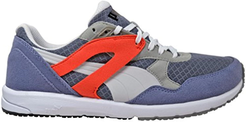 Puma - Zapatillas para hombre gris blanco/rojo  -