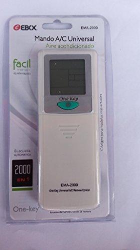 EBOX Ema 2000 . Mando a distancia universal para aire acondicionado 2000 codigos