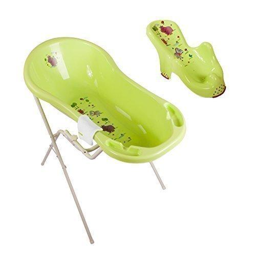 Hippo Green XXL Baby Bathtub 100 cm + Bath Stand + Bath Seat+ Wash Mitt
