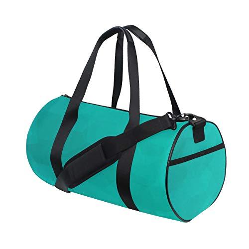 Blau Petrol/Farbe Kunst Aquarell benutzerdefinierte leichte große Yoga Gym Totes Handtasche Reisen Leinwand Seesäcke mit Schulter Crossbody Fitness Sport Gepäck für Mädchen Männer Frauen -