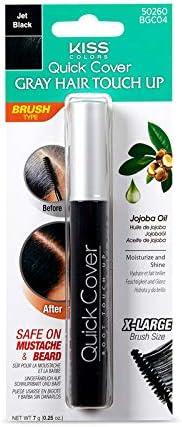 KISS Brush In Hair Colour BGC04, Jet Black, 6 gm