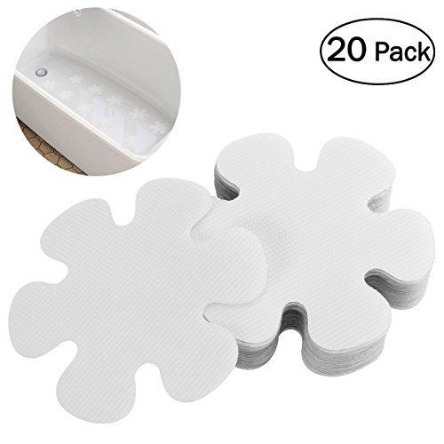 OUNONA 20Pcs Form Anti-Rutsch-Badewanne Aufkleber Sicherheit Badewanne Dusche Treter 10Cm Blume wie Gezeigt (Sicherheits-badewannen-trittstufen)